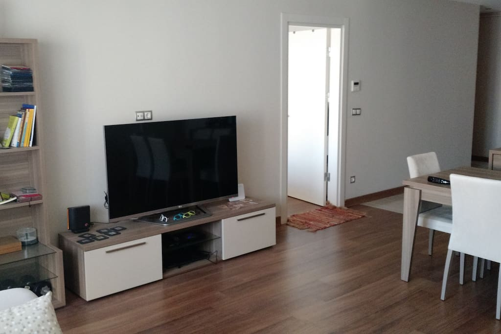 """living room with 55"""" led tv"""