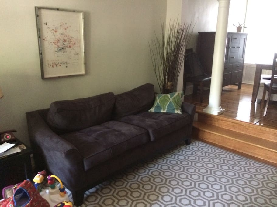 Fold out Queen size sofa bed in living/family room