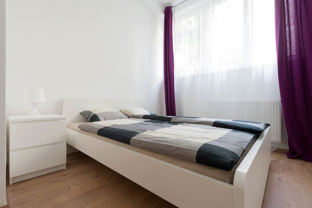 The cozy bedroom 1, full privacy for 2 persons