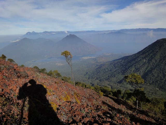 View from the summit of the Atitlan volcano
