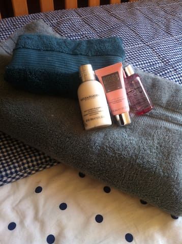 Complementary towels and toiletries