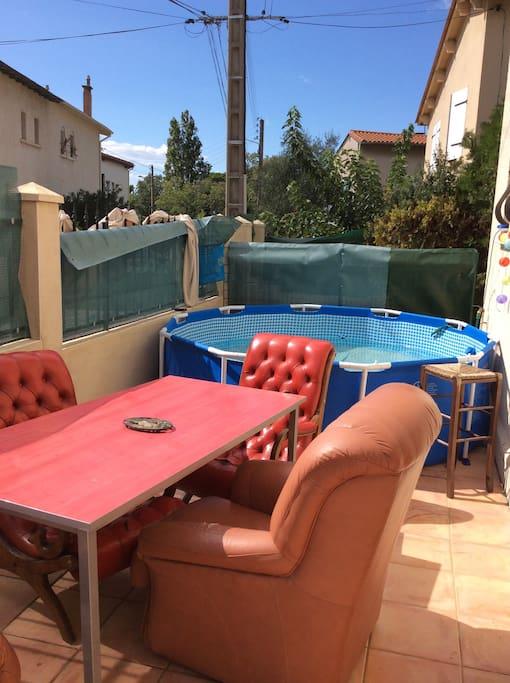 Profitez de cette terrasse sous le soleil Montpellierain