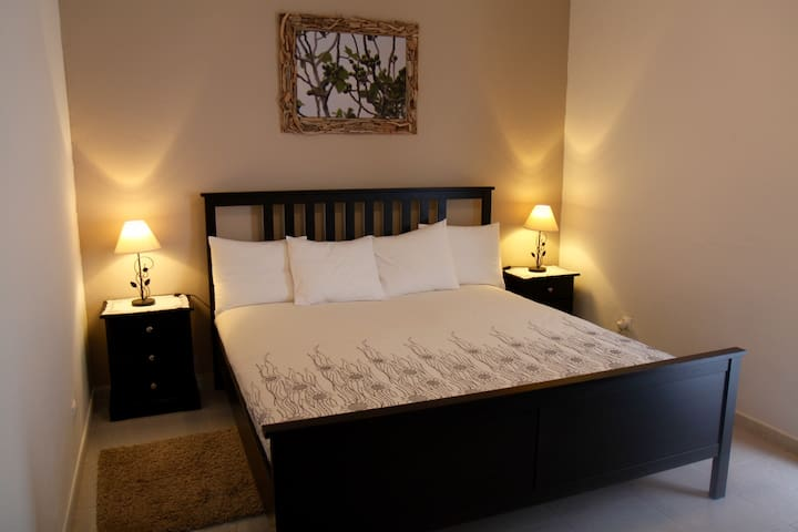 Bedroom 1:  large comfortable double bed and large closet