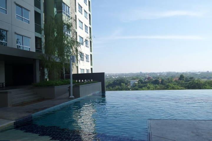 Pattaya#E Front Beach for 1-2 ppl - Pattaya - Condominio