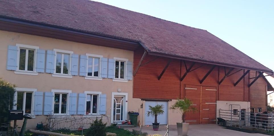 Chambre privée proche du lac - Chevroux - House