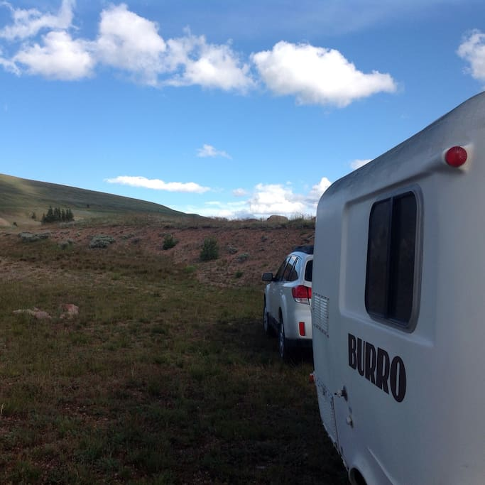 Dispersed camping in remote areas of the Bighorn National Forest, yet in the cosy safety of a camper.