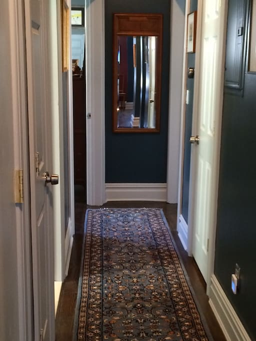The hallway to your room and bathroom.