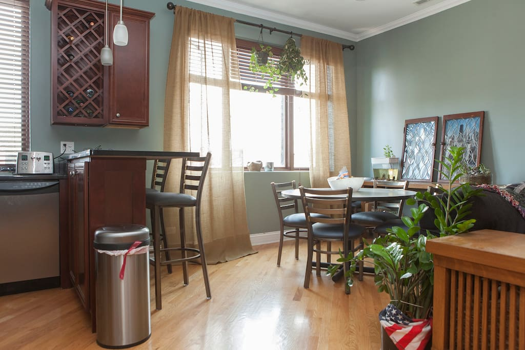 Guests have full access to the kitchen and living room.
