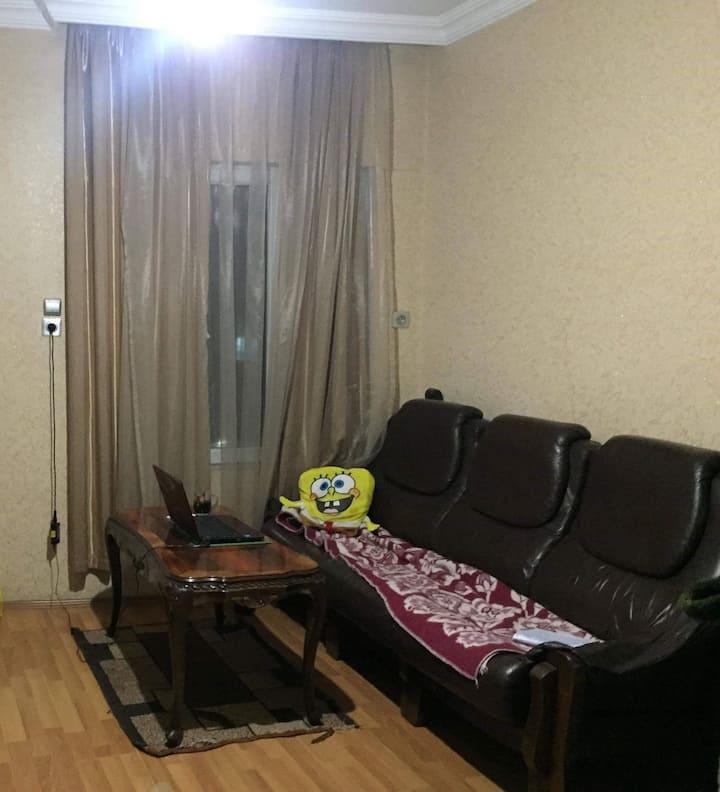 Private room on the central avenue in Chiatura...