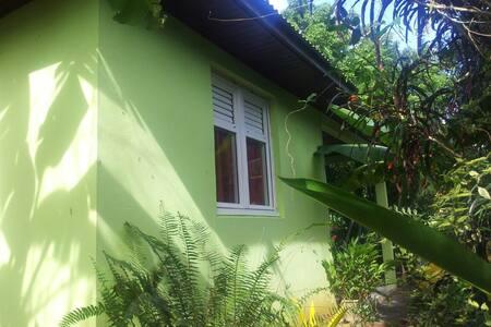Bungalow T2 meublé, cadre verdoyant - Rivière-Salée