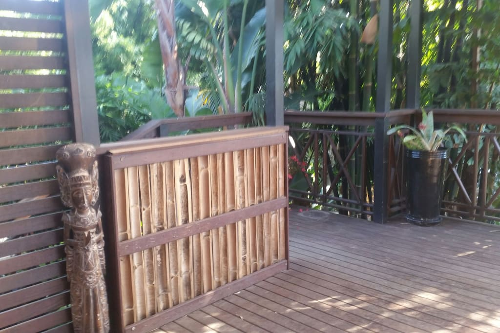 A tropical escape. .you will see why it is called The Bamboo House.