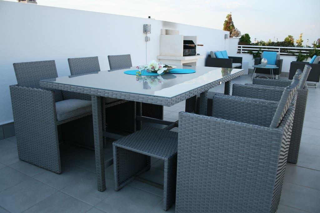 Privat roof terrace 58sq.m