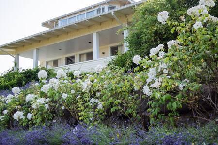 Vashon Island Lavender Hill Farm house  w/ view