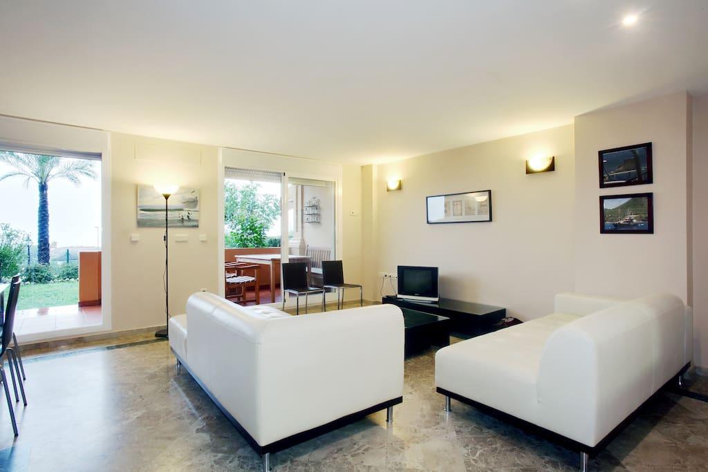 Living Room looking towards Private Garden