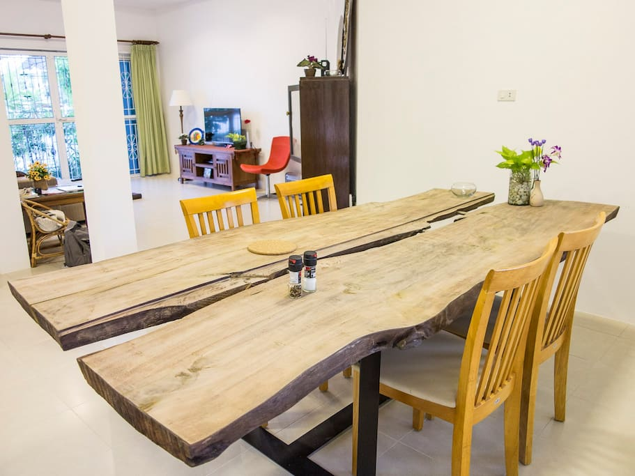Welcome to the large open-plan dining, living room and kitchen
