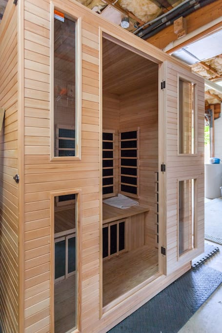 2 person infrared sauna in our garage available for a small fee