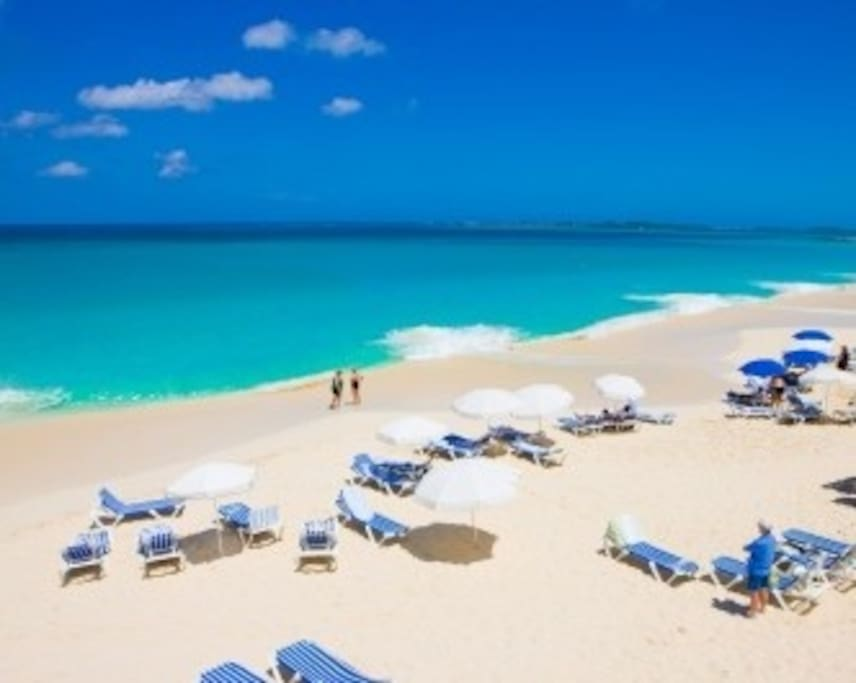Gorgeous white sand and turquoise  water