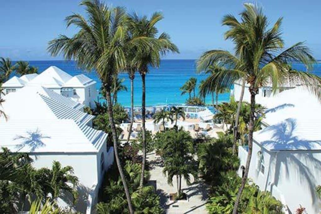 Fantastic view of the resort
