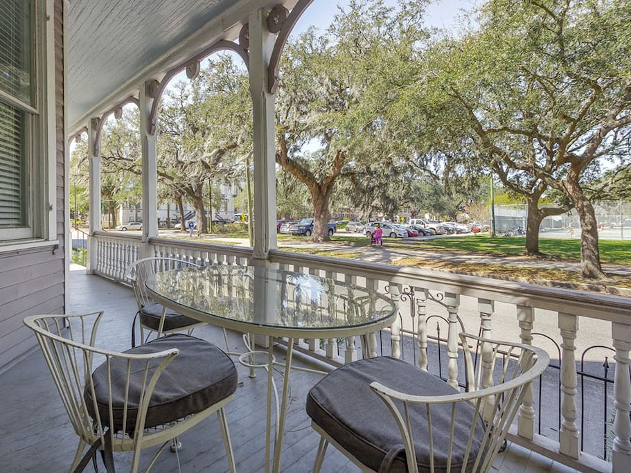 Front Porch Overlooking Forsyth Park