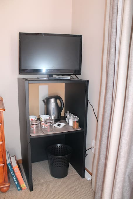 The room has a TV and tea/coffee making facilities if you choose to stay in the comfort of your room.