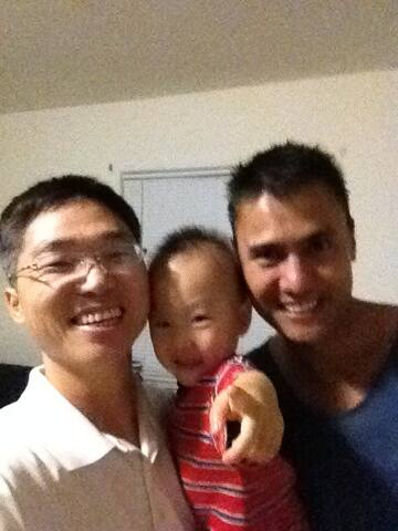 Kemale,baby n me(left) happy time!