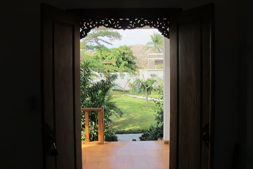 View of the garden from the rooms