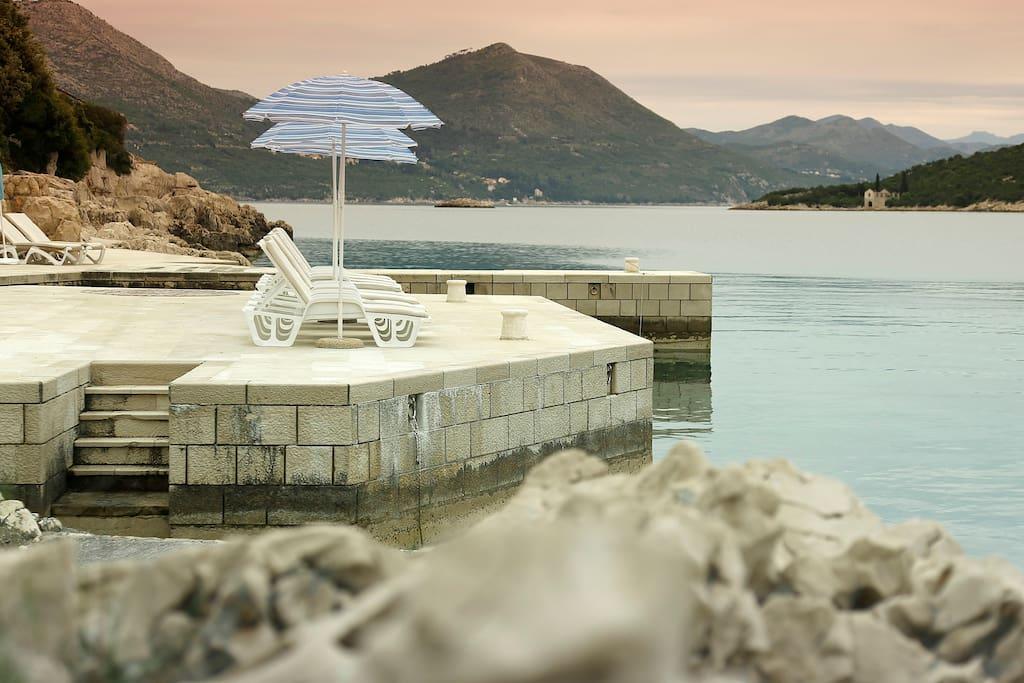 Hotel Božica private beach