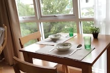 Nice little cozy view of dining table...