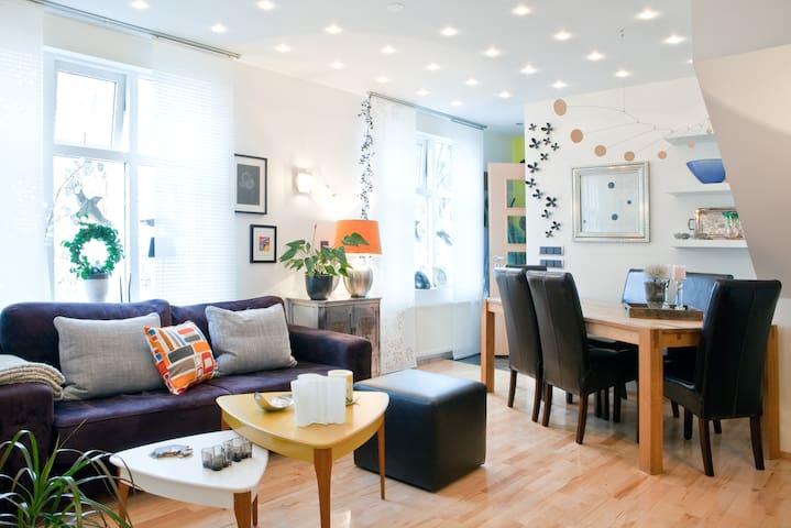 Luxury apartment downtown Reykjavík-double terrace