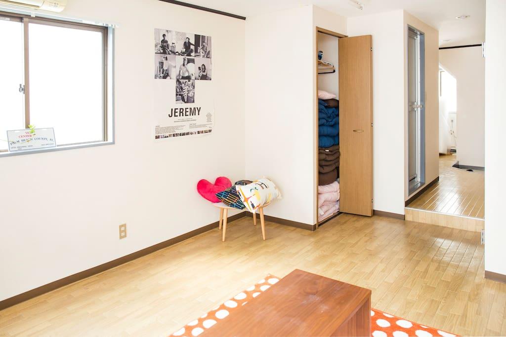 Living room (huge open space)