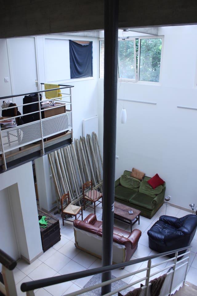 Salon vue de l'étage