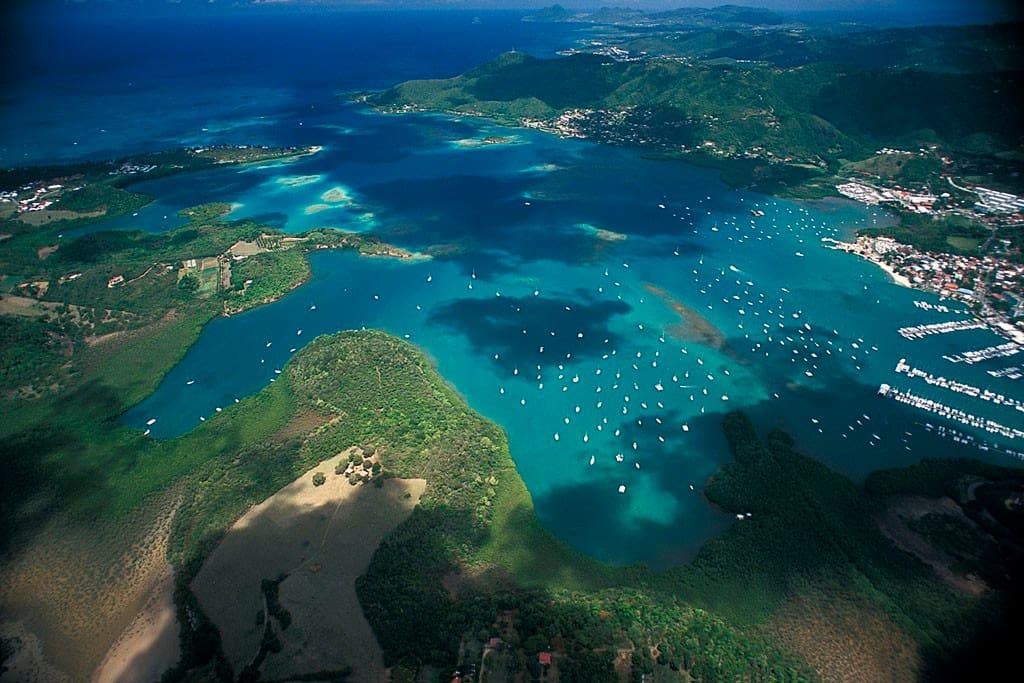 Baie du Marin vue du ciel