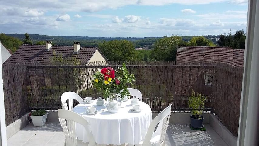 Maison, terrasse et jardin - Coupvray - House