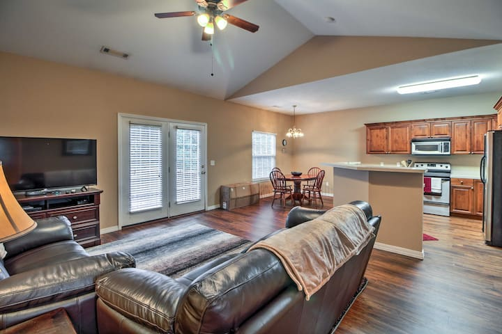 Up to 6 guests can spread out and enjoy the open living space.