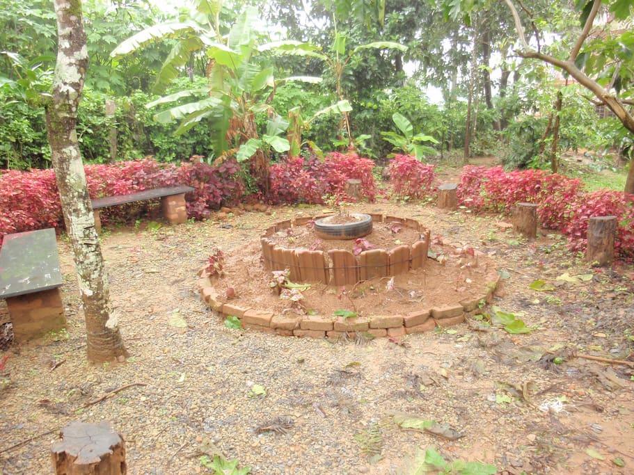 Campfire in the backyard