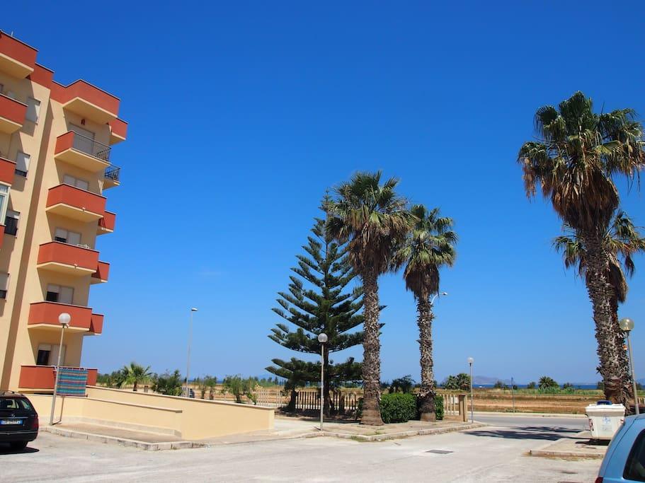 Area Parcheggio del Residence Fronte Mare