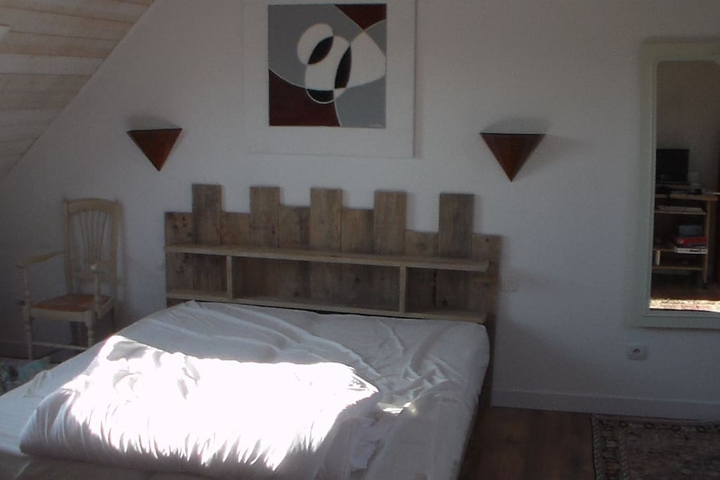 une chambre spacieuse