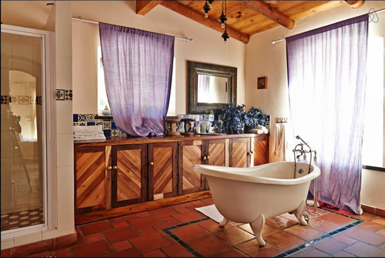 Spacious en - Suite Bathroom with Victorean bath, toilet, basin and shower