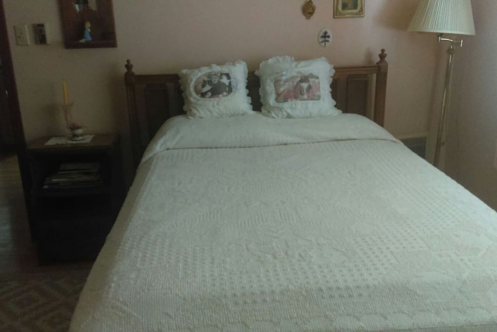 Comfy old fashion bed and I promise you will enjoy a great night's sleep.