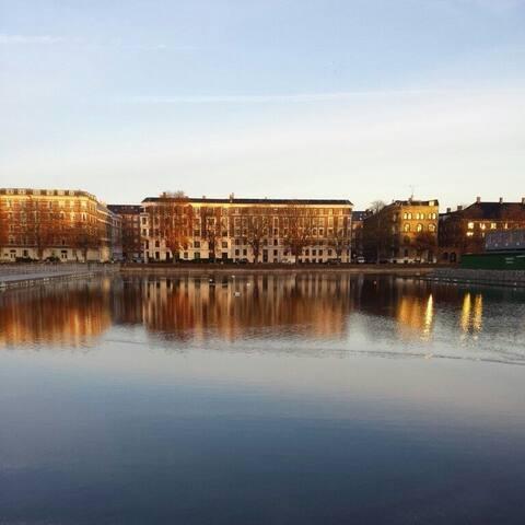 Private room near the lake in the Copenhagen city