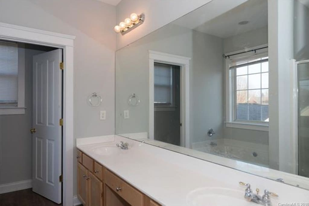 Master Bathroom has double vanity, large tub AND a shower!