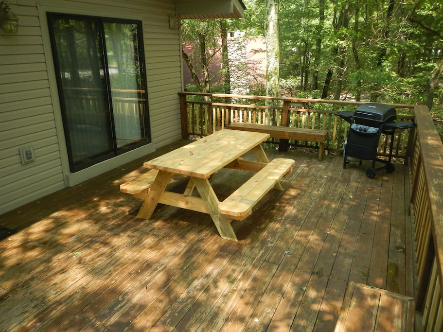 Deck: With Grill, Table and other seating