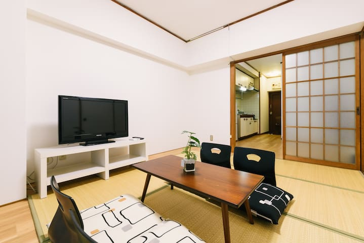 2 Separate Units on the same floor for 9 guests - Hakata-ku, Fukuoka-shi - Appartement