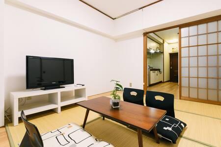 2 Separate Units on the same floor for 9 guests - Hakata-ku, Fukuoka-shi - 公寓