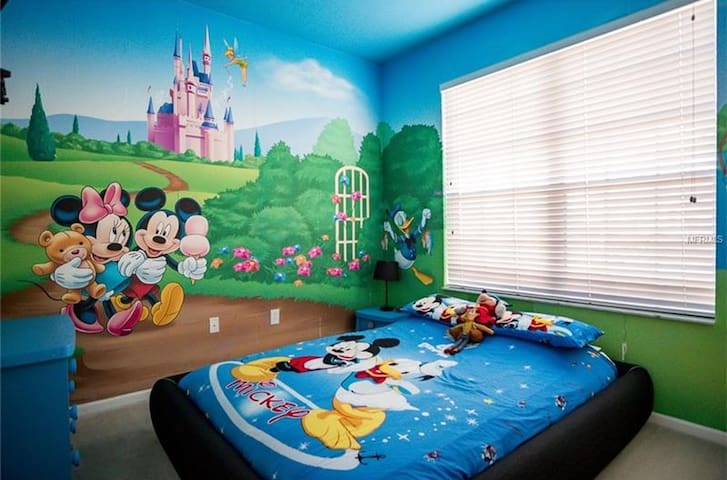 Snuggle up with Mickey and friends in the Mickey room!