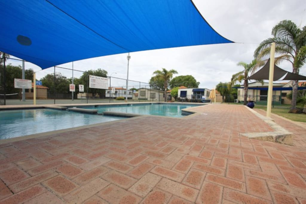 Solar Heated Pool with Shaded Toddlers Pool