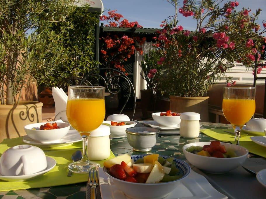 Petits déjeuners au Jardin