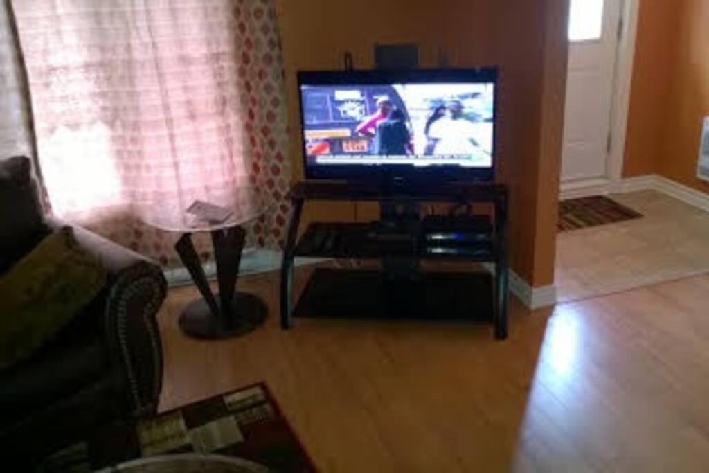 Au fond au salon la TV+DVD