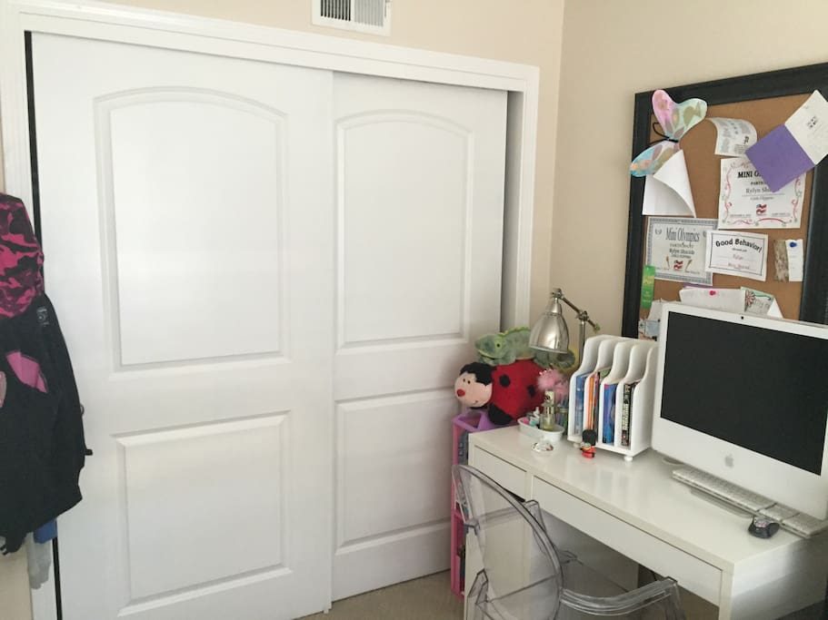 Closet and desk