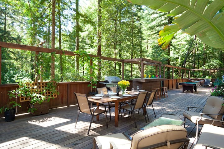 REDWOOD SERENITY DECK - Guerneville - House